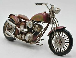 Vintage Simplified Chopper Motorcycle Motorbike Bike Harley Davidson Figurine