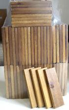 Holzstücke 50 kleine Holzplatten ca. 14,6 x 4,5 cm Akazienholz (vorgeölt)