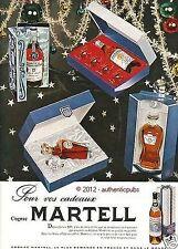 PUBLICITE MARTELL COGNAC COFFRET BOULES DE NOEL BRANDY DE 1959 FRENCH AD PUB