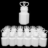 Wedding Bubbles Bottles with Liquid x 24 Pack Mini Blowing Clear Containers