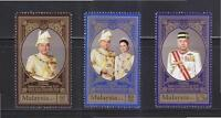 MALAYSIA 2015 ENTHRONEMENT OF SULTAN OF PERAK STATE COMP. SET 3 STAMPS MINT MNH