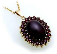 Ladies Pendant m. Granat Silver 925 gold plated Quality Sterling silver 1914/8GR