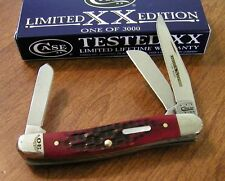 CASE XX New Limited Series XXX Brick Red Jigged Bone 3 Bld Stockman Knife/Knives