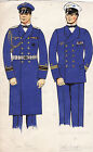 * WWII ORIGINAL MILITARY SKETCH - Army Uniforms - German Soldiers, Navy Officers