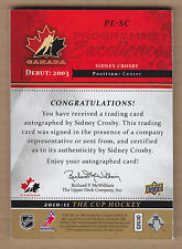 10-11 2010-11 The Cup Programme of Excellence Sidney Crosby Auto #'d 10/10