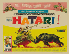 Hatari! (1962) John Wayne movie poster print