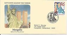 FDC  2001 SEPTEMBER 11th COALITION OF FORCES COVERS- MONGOLIA