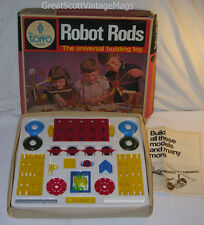 RARE 1970's VINTAGE TORRO ROBOT RODS BUILDING TOYS NEAR COMPLETE
