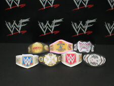 7 x Custom WWF WWE Womens Title Belts For Hasbro Mattel Retro Wrestling Figures