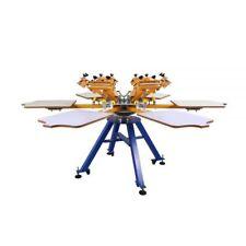 Us 6 Color 6 Station Silk Screen Printing Machine Press T Shirt Printer Carousel