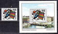 """6) Internationale Briefmarkenausstellung"""" Stockholmia´86 """" Mo.3086+Bl.100 (0541)"""