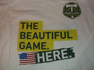 PORTLAND TIMBERS Soccer The Beautiful Game Here T Shirt Sz Medium M Cotton