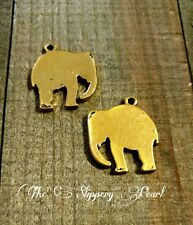 Elephant Charms Elephant Pendants Gold Elephant Charm Metal Stamping Blanks