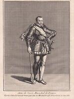 Portrait XVIIIe Artus de Cossé Brissac Comte De Secondigny Maréchal Gonnor