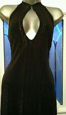 Halter Neck Party Striped Regular Size Dresses for Women