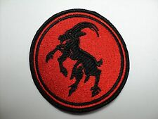 GOATMOON CIRCLE  RED AND BLACK EMBROIDERED PATCH