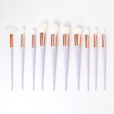 10PC Makeup Brush Tool Set Cosmetic Eyeshadow Powder Foundation Lip Fan Brushes