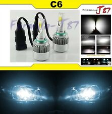 LED Kit C6 72W 9012 HIR2 6000K White Two Bulbs Head Light Low Beam Replacement