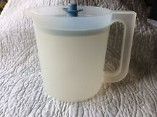 Vintage Tupperware Pitcher 1.5 Qt Clear W/ Blue Lid #1575-8