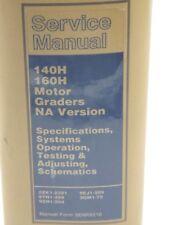 CAT Caterpillar 140H 160H Motor Grader Repair Shop Service Manual SENR8510