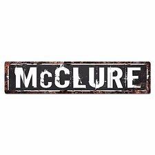 SLND0672 McCLURE Street Chic Sign Home man cave Decor Gift Ideas