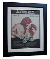 A STAR IS BORN+Streisand+FILM+POSTER+AD+FRAMED+ORIGINAL 1977+EXPRESS GLOBAL SHIP