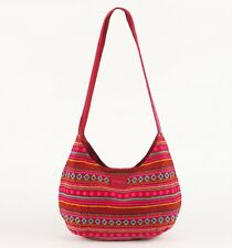 O'Neill Surfing Girls Sanchos Red Madras Fully Lined Hobo Bag Purse New NWT