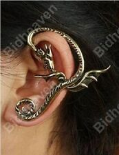 Gothic EMO Punk Metal Dragon Ear Cuff Clip Earrings for Women Girls Jewelry Gift