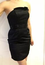 Lipsy Little Black Dress, UK 8, Satin