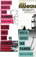 IAN RANKIN ___ 4 BOOK SET COLLECTION ___ BLEEDING HEARTS BEGGARS BANQUET ETC...