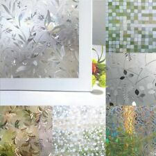 Privacy Window Glass Film Sticker Static Cling 3D Frosted Stained Bathroom Home