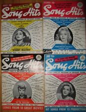Group of 4 Lyric Magazines - 4 very nice Song Hits Magazines 1940's Lucy, Judy