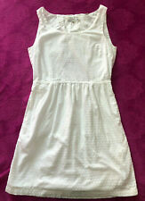 JACK WILLS WHITE COTTON OPEN BACK SUMMER HOLIDAY BEACH DRESS SIZE 8 ♡♡♡