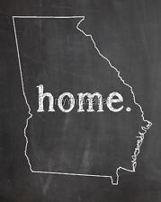 "GEORGIA HOME STATE PRIDE 2"" x 3"" Fridge MAGNET CHALKBOARD CHALK COUNTRY"