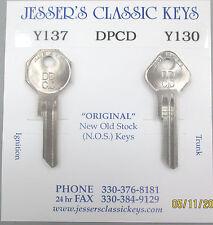 DPCD Y-137 Y-130 CHRYSLER NOS Original 1956 1957 1958 1959 Nickel Keys