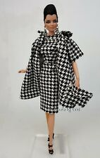 Silkstone Black White Dress Outfit Gown Vintage Style Barbie Fashion Royalty FR