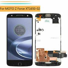 Black For Motorola Moto Z Force XT1650-02 LCD Touch Screen Digitizer + Frame BT2