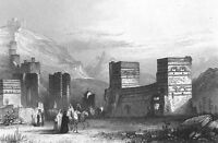 Turkey RUINS ANTIOCH Shakespeare PERICLES PRINCE TYRE ~ 1871 Art Print Engraving