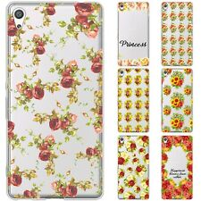 Dessana Flowers Pattern TPU Silicone Protective Case Case Pouch Cover For sony