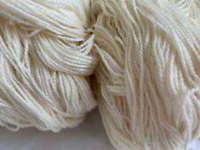 Beautiful Lot of 2 SOFT Skein Peruvian Merino Yarn Wool 2.2 lb 1000 Gr Lte Cream