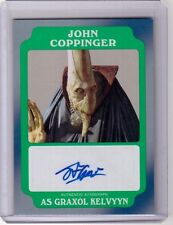 JOHN COPPINGER as GRAXOL KELVYYN 2016 Topps Star Wars Rogue One Auto Autograph