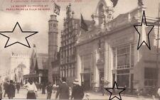 CPA - EXPO BRUXELLES 1910 - Maison du Peuple & Pavillon de Gand - NEUVE