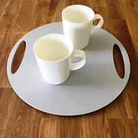 "Round Flat Serving Tray - Light Grey Acrylic, 3mm Thick, 32cm 12.5"" Diameter"