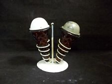 Vintage salt pepper shakers Ice Cream Cones with Metal Stand
