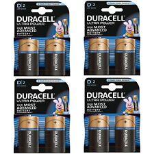 8 x Duracell Ultra Power D Type Alkaline Batteries Duralock - 1.5v LR20 MX1300