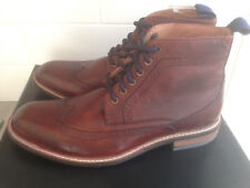 LOTUS ALDRIDGE BROWN LEATHER CHUKKA BROGUE BOOTS. UK 8. BRAND NEW AND BOXED.
