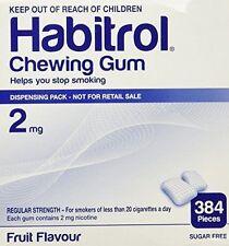 Habitrol 2mg FRUIT Flavor 384 Pieces Bulk Box Quit Smoking Gum *FRESH*