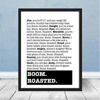 Framed The Office Boom Roasted Michael Scott Dunder Mifflin Stress Relief Gift