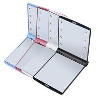 Makeup Pocket size Mirror Folding LED Light Portable mini Cosmetic beauty travel