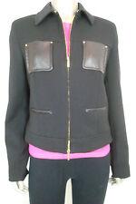 Anne Klein Women's Black Zip up Long Slv Coat w/ Open Pockets 8